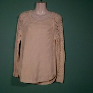 Ann Taylor LOFT Cable Knit Sleeve Sweater